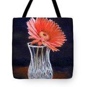 Flower In Crystal Vase Tote Bag