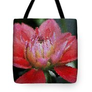 Flower In Stain Glass Tote Bag