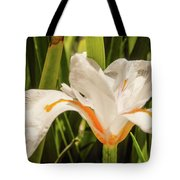 Flower In The Grass Tote Bag
