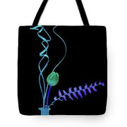 Flower In The Negative Tote Bag