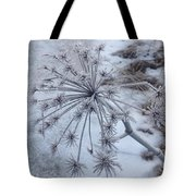 Flower In Winter Tote Bag