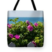 Flower Island View Tote Bag