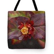 Flower Leaves Tote Bag