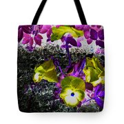 Flower Like Purple And Yellow Tote Bag