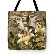 Flower - Lily - White Lily Tote Bag