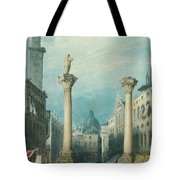 flower market in Vicenza Tote Bag