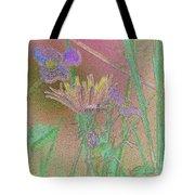 Flower Meadow Line Tote Bag