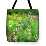 Flower Mosaic Tote Bag