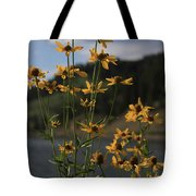 Flower Mountain View Tote Bag