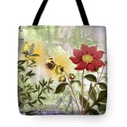 Flower-n Tote Bag