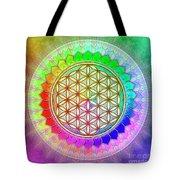 Flower Of Live - Rainbow Lotus 2 Tote Bag