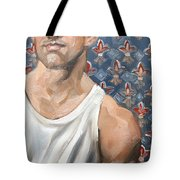 Flower Of Louis, 11x14 Inches Ol On Panel By Kenney Mencher  Tote Bag