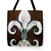 Flower Of New Orleans White Calla Lilly Tote Bag by Judy Merrell