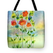 Flower Patch With Butterfly Tote Bag