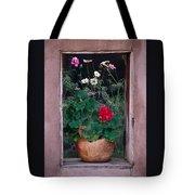 Flower Pot In Window Tote Bag