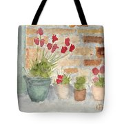 Flower Pots Tote Bag by Ken Powers
