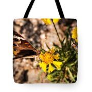 Flower Power Bug And Butterfly Tote Bag