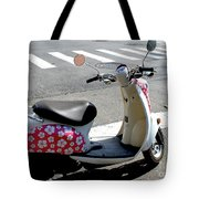 Flower Power For A Montreal Motor Scooter Tote Bag