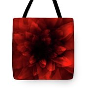 Flower  Red Shade Tote Bag
