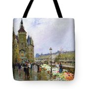 Flower Sellers By The Seine Tote Bag