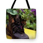 Flower Shoe Pot Tote Bag