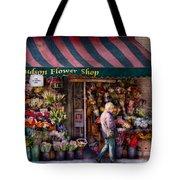 Flower Shop - Ny - Chelsea - Hudson Flower Shop  Tote Bag