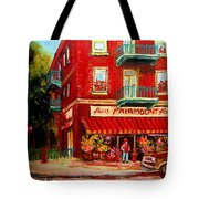 Flower Shop On The Corner Tote Bag