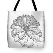 Flower Sketch Tote Bag