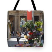 Flower Stand In Milan Tote Bag