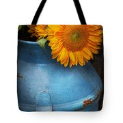 Flower - Sunflower - Little Blue Sunshine  Tote Bag