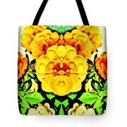 Flower Teddy Tote Bag