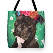 Flower The Pitbull Tote Bag