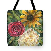 Flower Trio Tote Bag