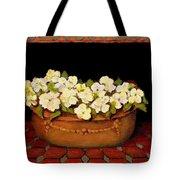 Flower Tub Rose Bay Tote Bag