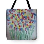 Flower Twists Tote Bag