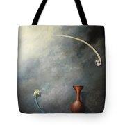 Flower, Vase And Bird 2 Tote Bag