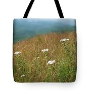 Flower View Of Mountains Tote Bag