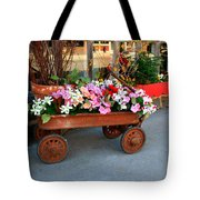 Flower Wagon Tote Bag