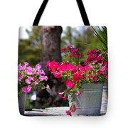 Flower Wagon Tote Bag