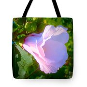 Flower With Painted Look Tote Bag