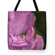Flower With Pistil And Stamens Displayed Tote Bag