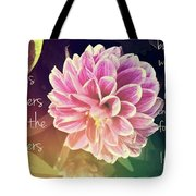 Flower With Scripture Tote Bag