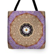 Flower With Wood Embroidery Tote Bag