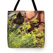 Flower Wood And Rock Tote Bag