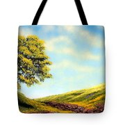 Flowered Fields Tote Bag