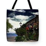 Flowered Home Tote Bag