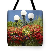 Flowered Lamppost Tote Bag