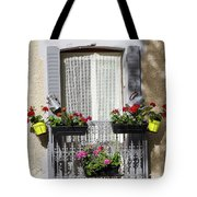Flowered Window Tote Bag