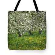 Flowering Apple Orchard Tote Bag