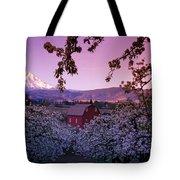Flowering Apple Trees, Distant Barn Tote Bag